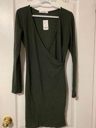 Mboutiqe Dress Olive Green