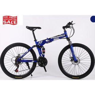 Blue Foldable Soldier Bicycle Brand New and Free gifts Worth $80