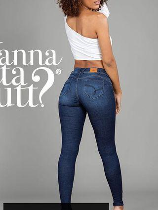 Dark wash booty lifting jeans