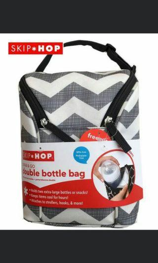 Brand New Skip Hop Double Bottle Bag With Ice Pack