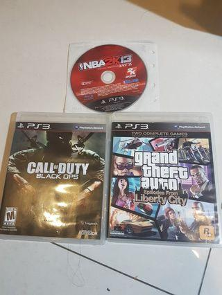 🚚 Ps3 games 3 for 1200nt