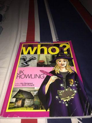 Who? J.K. Rowling