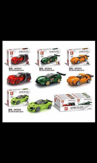"**New** Sembo SY607013-607016: ""Racing Car"""