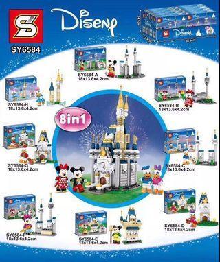 **New** Sembo SY6584: 8 in 1 Disney Castle