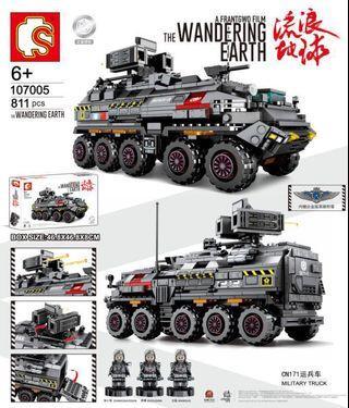"**New** Sembo 107005: ""The Wandering Earth"" Military Truck(811pcs)"