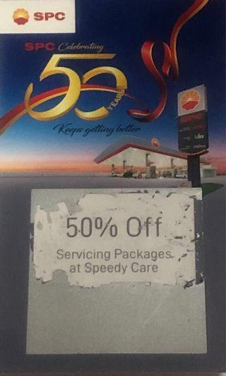 SPC 50% Servicing Packages at Speedy Care