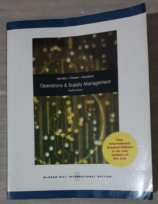 Textbook Original Bahasa Inggris 'Operations & Supply Management' 12th International Edition (Pre-Owned)