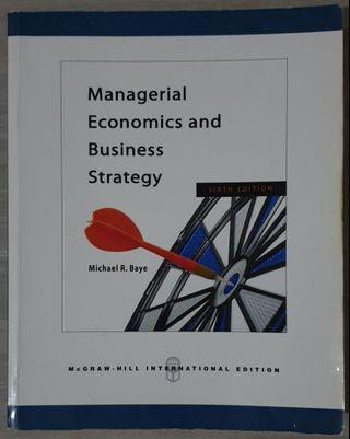 Textbook Original Bahasa Inggris 'Managerial Economics and Business Strategy' International Edition (Pre-Owned)