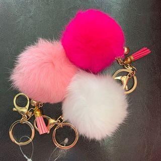 Fluffy Faux Fur Keychains