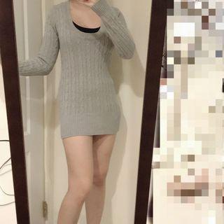 🚚 灰色針織洋裝