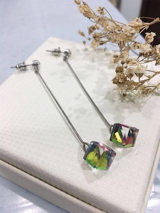 Rainbow Diamond Earring
