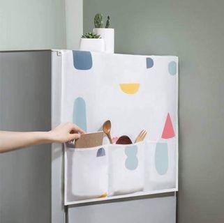 多彩幾何碎花冰箱防塵收納罩
