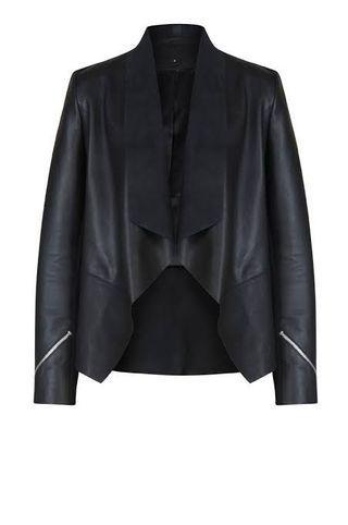 Moochi saddle leather jacket