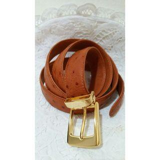 Beautiful Authentic Ostrich Leather Belt