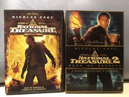 2 DVD National Treasure 1 & 2 驚天奪寶