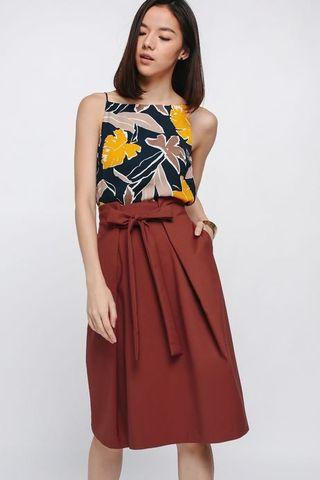 Shenita Sash Midi Skirt