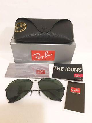 Ray-Ban The Icons RB3026 Aviator sunglasses 全新機師款太陽眼鏡連皮套,盒,眼鏡布,說明書全套,原裝正貨, made in Italy