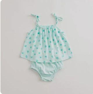 [Free Shipping] New with tag! Premium Branded Marc & Janie Kids Summer Beach Set Apple Green (4T)