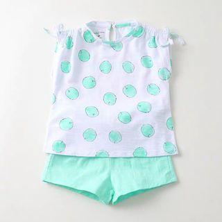 [Free Shipping] New with tag! Premium Branded Marc & Janie Kids Sets Apple Green