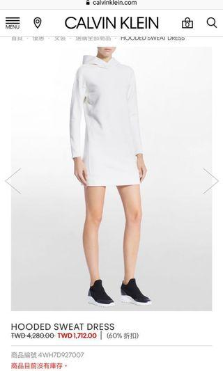 Calvin Klein Hooded Dress (size M, brand new)