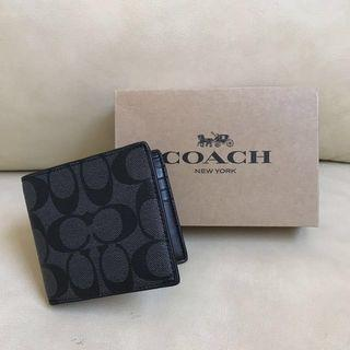 🚚 BN 💯 Authentic Coach Mens wallet in Signature pvc leather