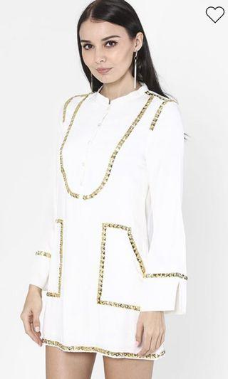 The Agnes Tunic Top In White