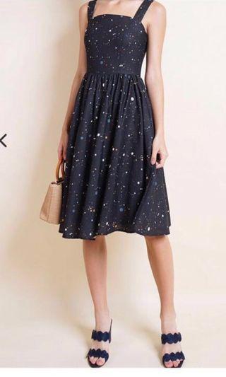 Neonmello Tinsley Confetti Dress in Black