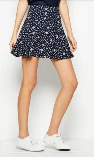 Jack Wills Papworth Floral Skirt in Navy