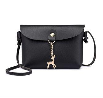 CHEAPEST $8 MAILED BLACK LEATHER SLING BAG SALES
