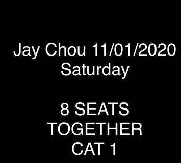 8X Jay Chou concert ticket 11 Jan Saturday 2020