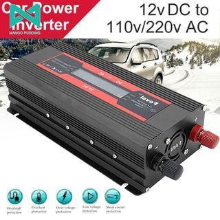 12V轉110V/220V 電源轉換器 逆變器 太陽能 直流轉交流 汽車電源轉家用電源 家用 車載 變壓器 交直流轉換器