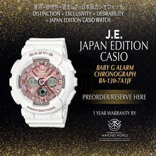 CASIO JAPAN EDITION STREET FASHIONS SERIES LIGHT ROSE GOLD DIAL BA-130-7A1JF