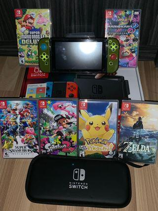 🚚 WTS Nintendo switch with 6 games