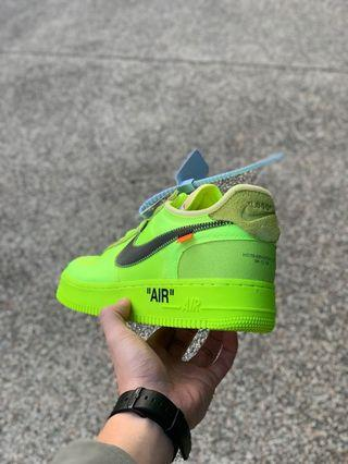 WTS NIKE OFFWHITE VOLT US10.5