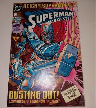 DC Comics《The Man of Steel #22 (Jun 1993)-Reign of The Superman》超人美國漫畫書(新淨)中間小海報