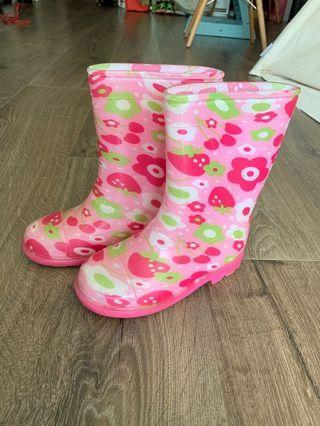 Rain boots 女童水鞋 size 19