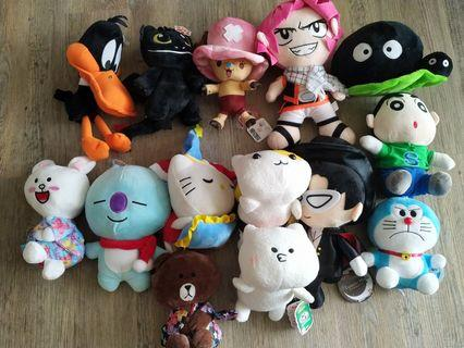 🚚 Selling assorted soft toys