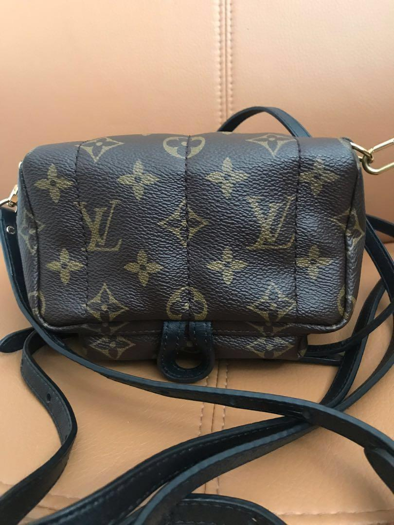 100% Authentic Preloved Louis Vuitton Palm Springs Mini Backpack