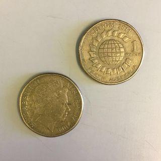 澳洲一元硬幣 (2011、1999、1996、、)件售