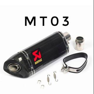 MT-03 Exhaust Slip Ons