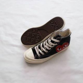 Original Converse X CDG Play 1970s Canvas Shoes