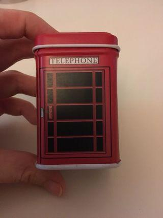 🚚 London booth small tin box storage jewellery