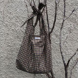 Choco tartan bag (tali bisa diatur jd slingbag/totebag)