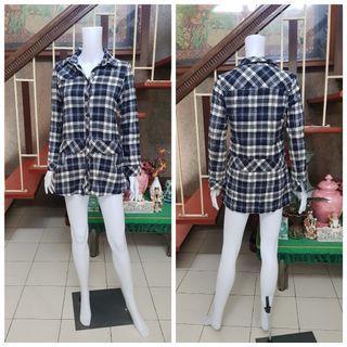 Plaid Button Dress Shirt Medium