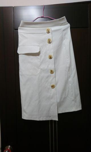賣正韓超美斜釦長裙