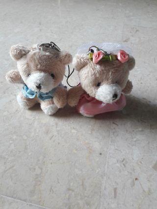 Wedding Bear Couple Keychain