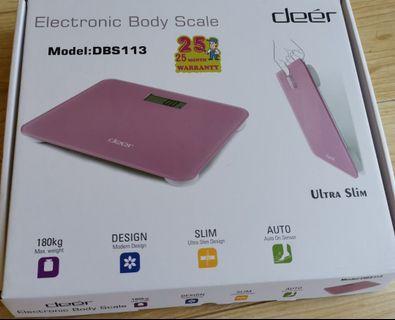 100% New 超簿電子磅 Deer Electronics Body Scale