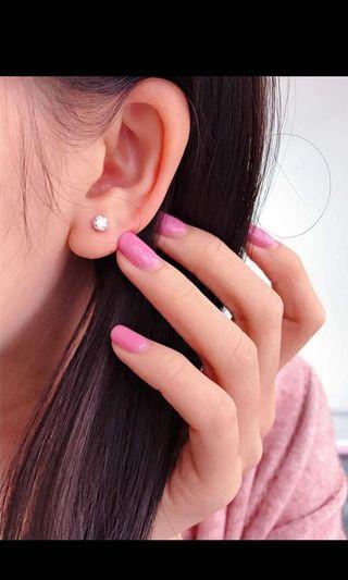 日本直送,八心八箭鑽石耳環