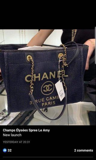 New arrival Chanel 19A deauville tote