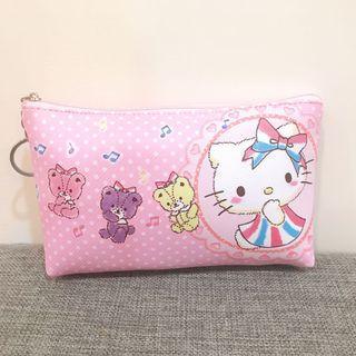 Hello Kitty 粉色化妝包 收納袋 凱蒂貓化妝包 筆袋 三麗鷗系列 鑰匙圈包包